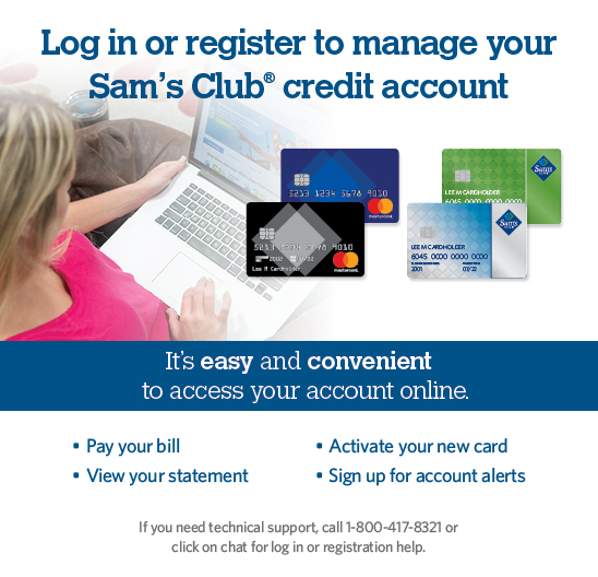 welcome to the sams club credit online account management center