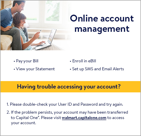 Welcome to the Walmart Credit Online Account Management Center