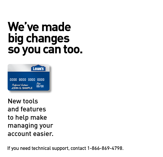 Manage Your Lowes Consumer Card Account